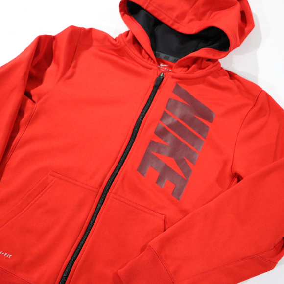 Red Nike Light Hooded Jacket in Boys